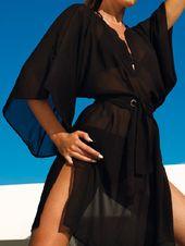 Black Chiffon Bikini cover. So stylish!    By Zeki (2012 Collection)