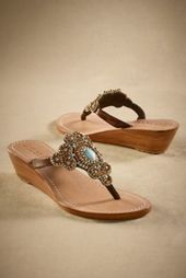 Mystique Sandals from Soft Surroundings.    My kind of glam sandals.  I love the...