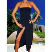 Tabitha Navy Cover-Up by Elizabeth Hurley Swimwear a at Pesca Boutique. This lon...