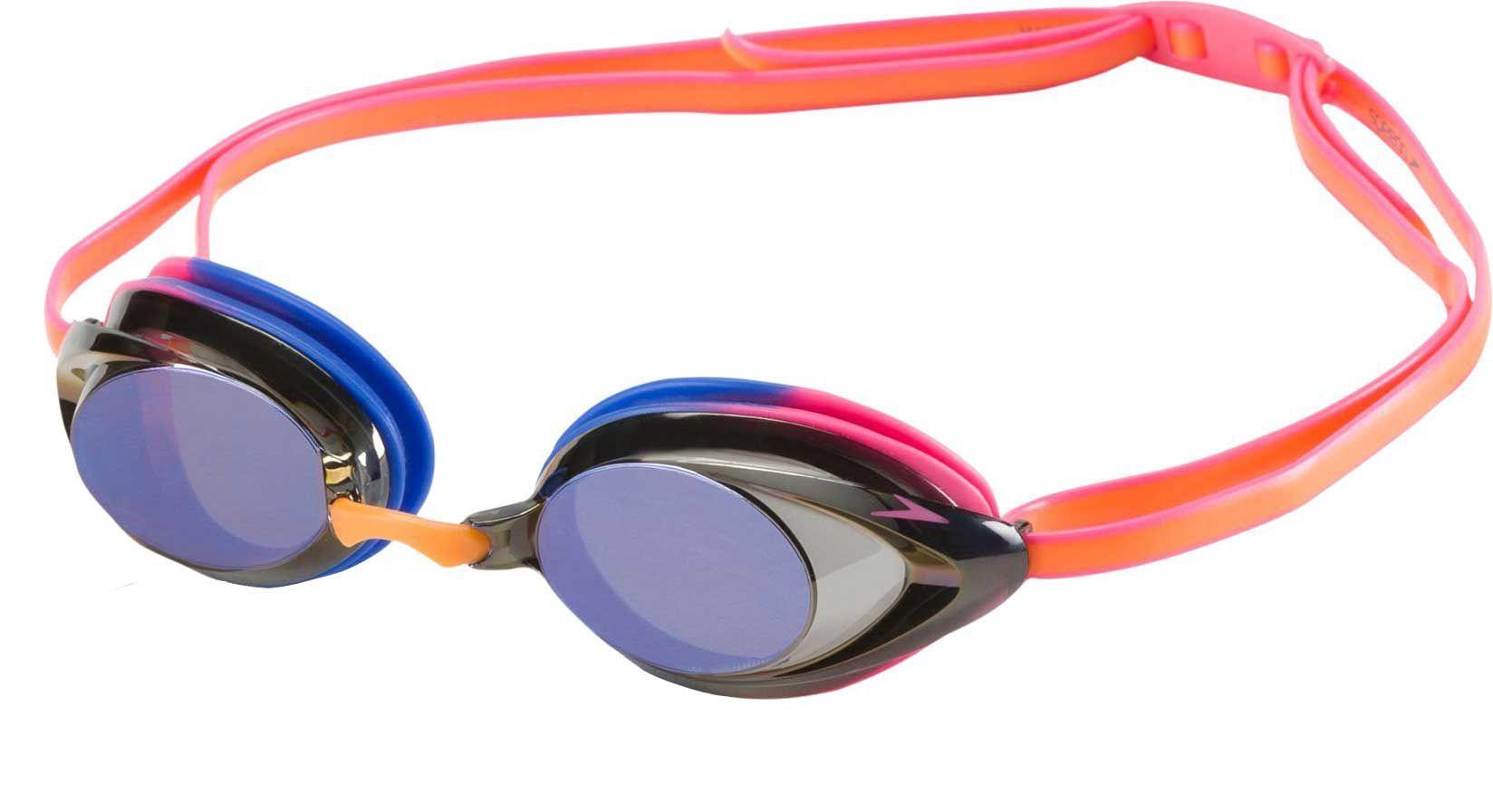 Speedo Women's Vanquisher 2.0 Mirrored Swim Goggles, Coral