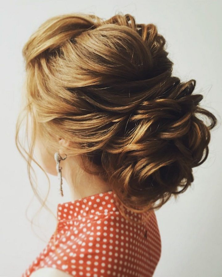 Best Hairstyles For 2017 2018 Gorgeous Braid With Messy Updo