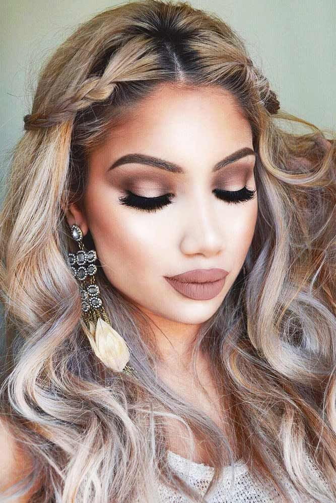 Makeup Ideas 2017/ 2018 - See More Ideas For Your Makeup And Hairstyle To Wear At A Valentineu2019s ...