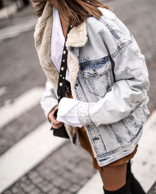 Street Style Inspiration Ideas Streetstyleplatform Denim Jacket Flashmode Middle East
