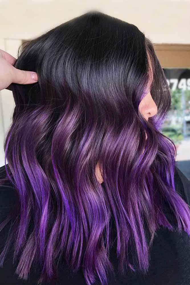Purple Brown Hair Brown Hairs
