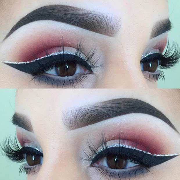 Makeup Ideas 2017 2018 Burgundy Smokey Eyes With A Pop Of Silver
