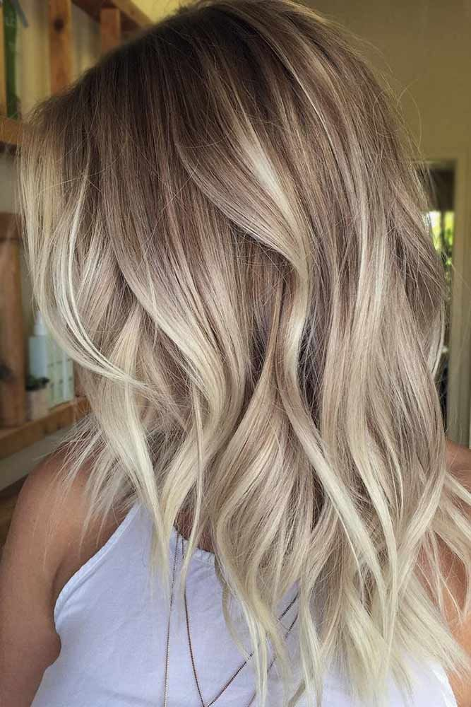 Hair Color 2017 2018 Blonde Ombre Hairstyle For Medium Hair
