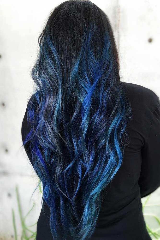 Hair Color 2017 2018 Multidimensional Deep Blue Highlights